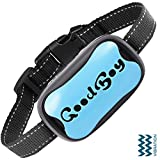 GoodBoy Dog Barking Collar for Medium and Large Dogs You Can Control Your Pet Unwanted Barking with This Safe Vibrating Anti Bark Training Device (8+lbs) (Blue, Good Boy)