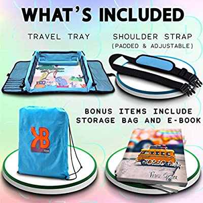 Kids Travel Tray, Kids Art Set, Travel Art Desk for Kids, Activity, Snack, Play Tray & Organizer - Keeps Children Entertained – Portable and Foldable + Storage Bag: Baby