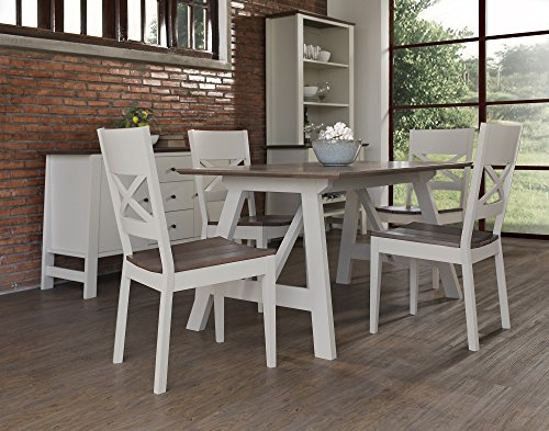 Coastlink Milan Dining Table Set for 4 - Coniston Two Tone Chairs