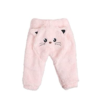 773bffd578f Baby Pants, Girls Boys Cartoon Cat Pants Toddler Winter Thick Warm Trouser  for 0-
