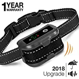 Dog Bark Collar Upgrade 2018 - Humane Anti Bark Training Collar – Beep Vibration Shock / No Shock Collar - Stop Barking Collar for Small Medium Large Dogs - Best No Bark Control Collars – Pet Safe