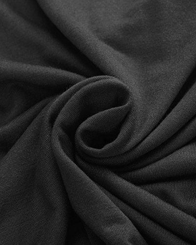 ZANZEA Mujer Básica Camiseta Manga Corta Cuello Pico 13 Colores Estampado Camuflaje Verano Negro