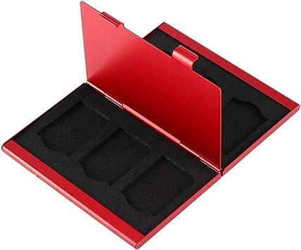 Topiky Caja de Almacenamiento portátil para Tarjetas de Memoria de aleación de Aluminio, con Estuche para EVA para 6pcs Tarjetas SD: Amazon.es: Electrónica