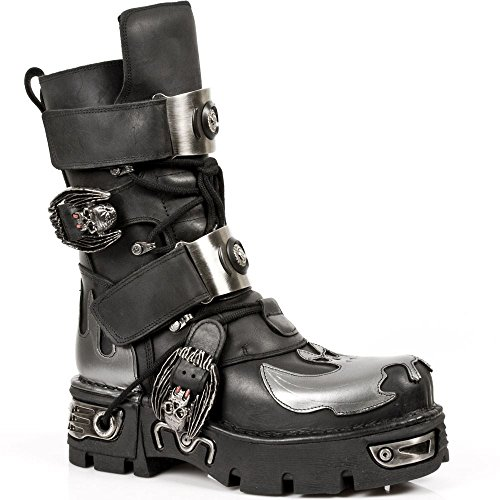 New Rock Echtleder Stiefel Unisex Design Goth Punk Biker Stil Neue Kollektion