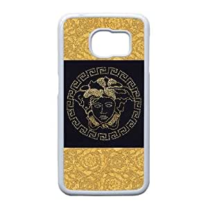 Samsung Galaxy S6 Edge Cell Phone Case White Versace QY8514446