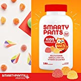 SmartyPants Kids Complete Gummy Vitamins: Multivitamin & Omega 3 DHA/EPA Fish Oil, Methyl B12, Vitamin D3, limited Valuesize pack of 180 count Total