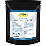(16 oz) Zinc Oxide Powder – Non Nano, Uncoated, Pharmaceutical Grade and Lead Free – Use to Make Ointments, Sunblock, Sunscreen Sticks, Acne with RECIPE EBOOK