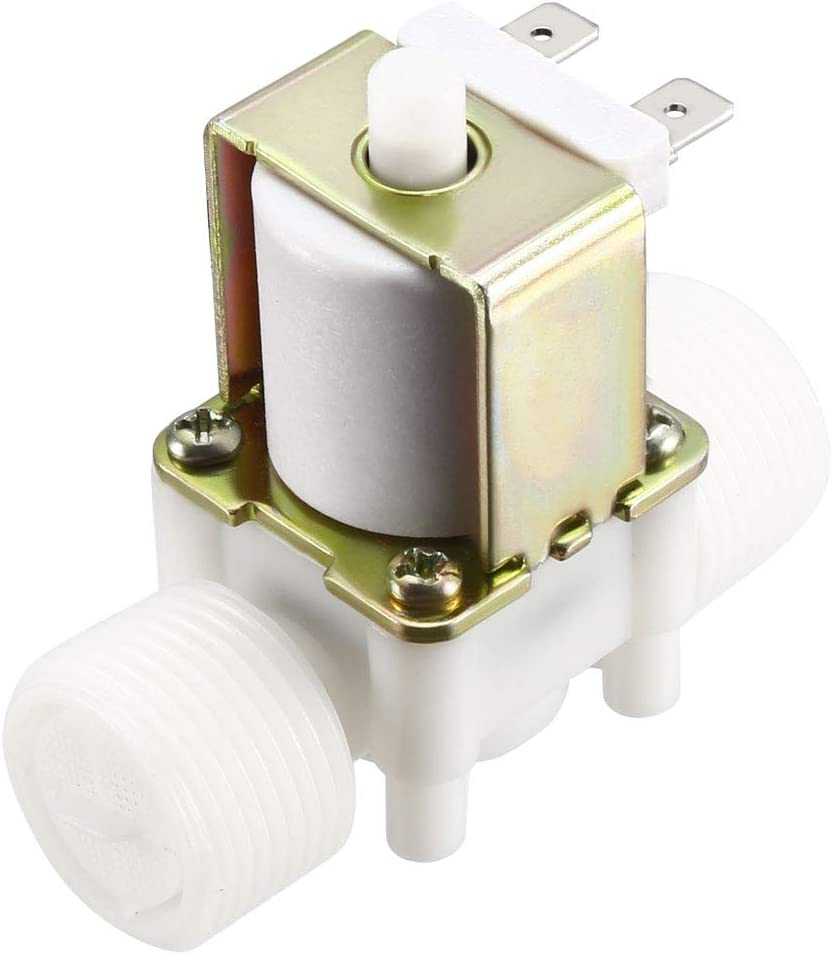 uxcell G3//8 Water Solenoid Valve DC 12V N//O Normally Open Female Thread Inlet Valves
