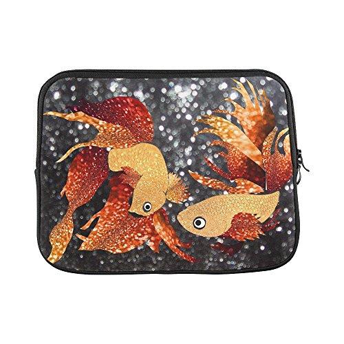 Design Custom Glitter Goldfish Glitter Goldfish Sleeve Soft Laptop Case Bag Pouch Skin For Macbook Air 11