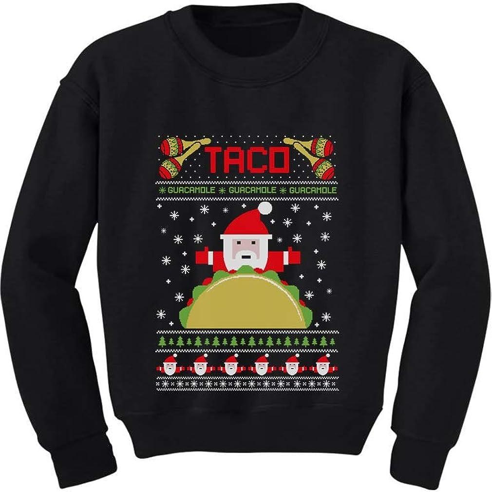 Taco Santa Ugly Christmas Sweater Funny Gift Youth Kids Sweatshirt