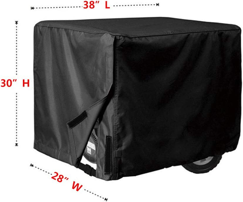 """Beige 32/""""L24/""""H24/""""W Generator Cover,Waterproof Universal Generator Cover,600D Oxford Cloth Portable Generator Cover,Heavy Duty Resistant Storage Cover,Great Use for Most Generators"""