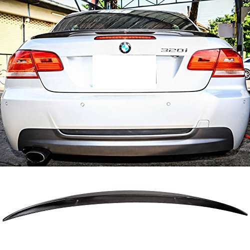 Trunk Spoiler Fits 2008-2013 BMW 3-Series E93 Convertible PERFORMANCE | Rear Carbon Fiber Tail Deck Lid Bodykit by IKON MOTORSPORTS |  2009 2010 2011 2012 ()