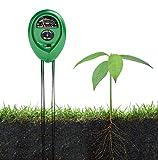 Soil Tester 3 In 1 Digital Sunlight Moisture PH - Soil Test Kit Meter with pH Acidity Moisture Sunlight Testing - for Garden Lawn Fertility