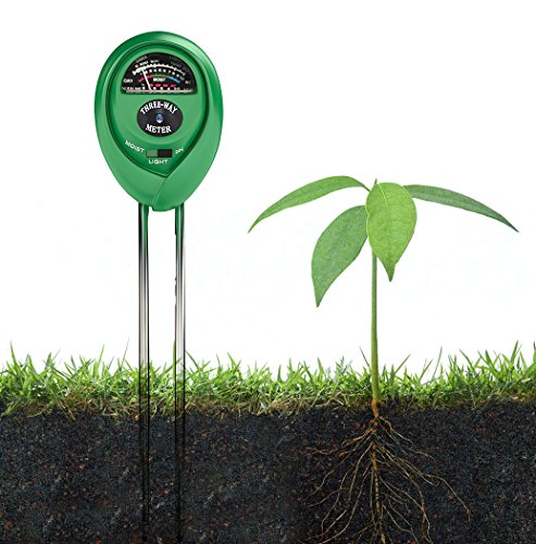 3-in-1 Gardening Soil Measuring Instrument Moisture Meter PH Meter - Green - 1