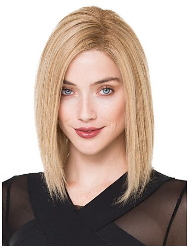 Beauty Fashion Wigs Fashion Lady Blonde Color Middle Long Synthetic Wigs (Harley Quinn Costume Commission)