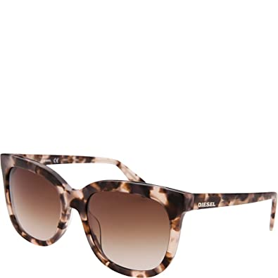 fdc0a7efae Image Unavailable. Image not available for. Color  Diesel Eyewear Womens  Square Sunglasses ...