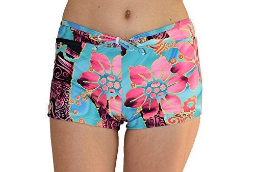 Private Island Hawaii Women UV Women UV Rash Guard Board Shorts Pants/Yoga/(XL, ()