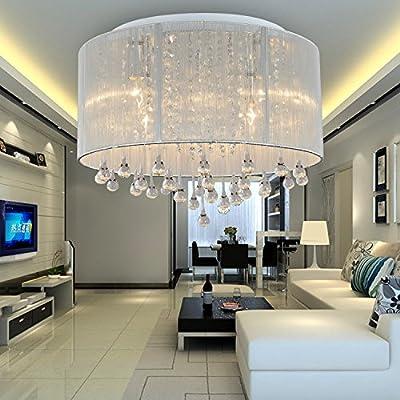 OOFAY LIGHT® Simple and elegant 6-head modern crystal ceiling light, Fashionable crystal ceiling light for living room, Bedroom crystal ceiling light