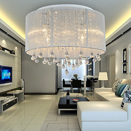 Oofay light simple and elegant 6 head modern crystal - Lamparas para techos altos ...