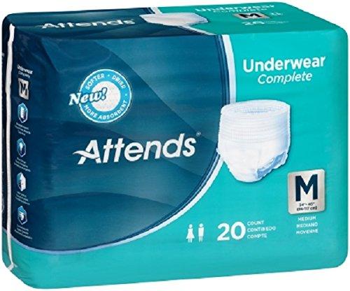 Attends Pull - Attends Super Plus Underwear, Medium, Heavy Absorbency, APP0720 - Pack of 20
