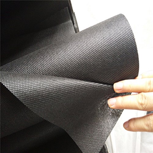 OriginA 1.5Oz Biodegradable Non-Woven Weed Barrier Fabric, Eco-Friendly for Vegetable Garden Landscape(3.9x30ft,Black)