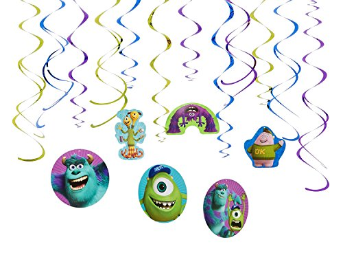 American Greetings Monsters University Hanging Party Decorations, Party Supplies -