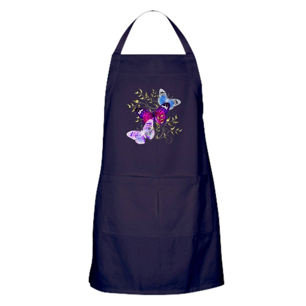 CafePress - Papillons - キッチンエプロン ポケット付き グリルエプロン ベーキングエプロン   B073WHXT1R