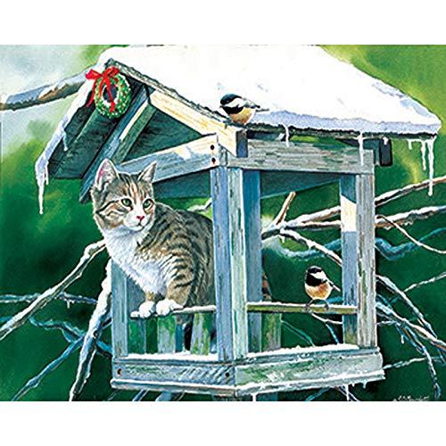 (Obert Fieldin Cat 5D Diamond Painting Kits for Adults Kids Set Full Drill Diamond Dotz for Home Wall Decor)