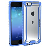 Poetic Affinity Series Thin TPU and Polycarbonate Bumper Case for Apple iPhone 6S / 6 - Blue/Clear