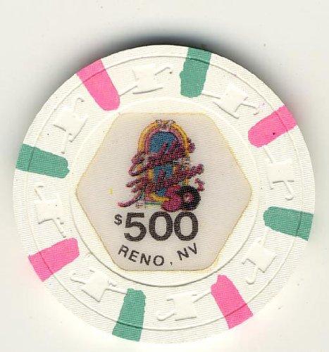 Eddies Fabulous Casino Reno NV 1987 Clay $500 Chip