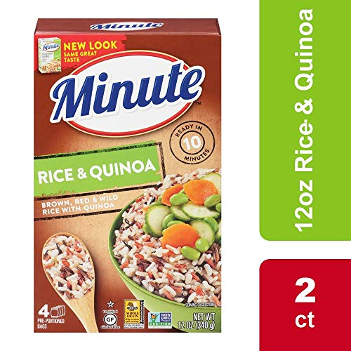 Minute Multi-Grain Medley Brown Rice Red Rice Wild Rice Quinoa, 2 Boxes, 12 Oz (Brown Rice Flour Free Shipping)