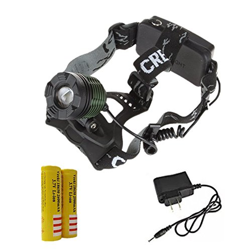 XM-L T6 LED Rechargeable Headlamp Headlight 1000LM Zoomable - 4