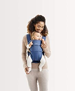 BABYBJÖRN Baby Carrier Mini, Cotton, Vintage Indigo