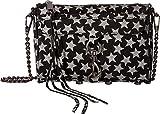 Rebecca Minkoff Women's Glitter Star Mini Mac Cross Body Bag, Black, One Size