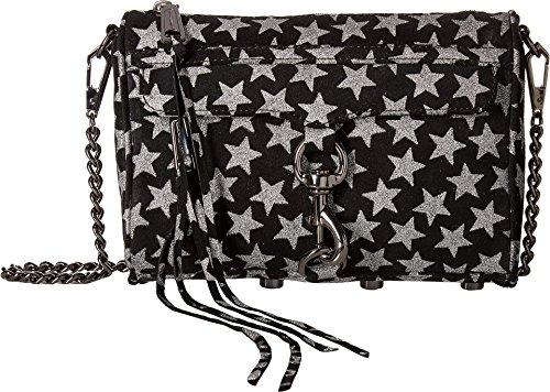 Rebecca Minkoff Women's Glitter Star Mini Mac Cross Body Bag, Black, One Size by Rebecca Minkoff