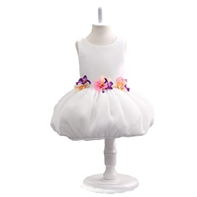 c973dd5c8bd21 Amazon.com: FIDDY898 Sleeveless Puffy Colored Handmade Flower Girl ...