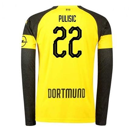 f5afcad26287f Amazon.com : UKSoccershop 2018-2019 Borussia Dortmund Home Long ...