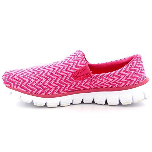Kom I Form Kvinna Jogging Walking Gymnastikskor Sport Arbete Körs Halka På Sneakers Rosa