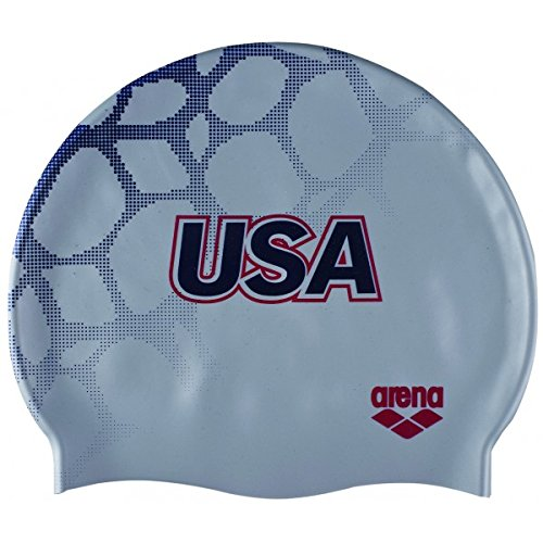 (arena National Team Silicone Cap, Silver)