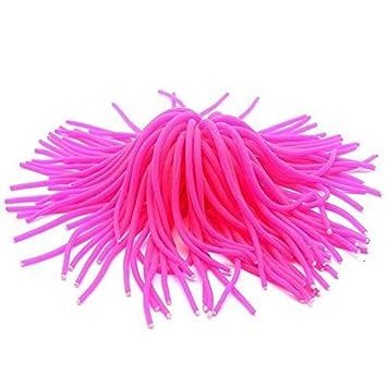 Gran planta artificial ondulante de acuario pecera estanque altura 13 cm color rosa: Amazon.es: Hogar
