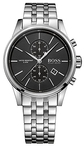 Hugo Boss Jet Stainless Steel Chronograph Quartz Mens Watch Black Dial Date 1513383