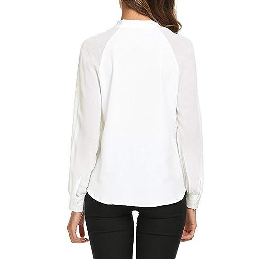 Bahoto Corbata De Lazo De Verano para Mujer Casual Camisa Blanca ...