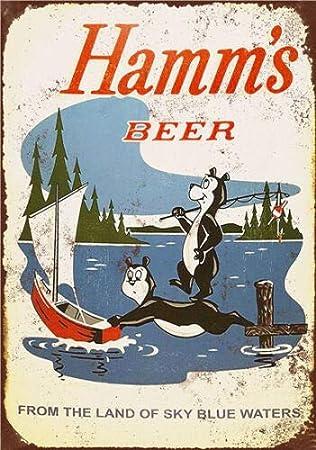 Metal Tin Sign hamm/'s beer   Bar Pub Home Vintage Retro Poster Cafe