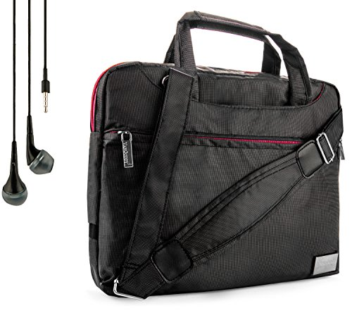 Vangoddy NineO Carrying Bag Case For Polaroid Tablets/M10, S8, PTAB750, PTAB1050, PMID920, PMID901, PMID80C + Handsfree Earphones