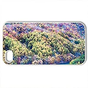 autumn forest in fukushima japan - Case Cover for iPhone 4 and 4s (Forests Series, Watercolor style, White) by icecream design