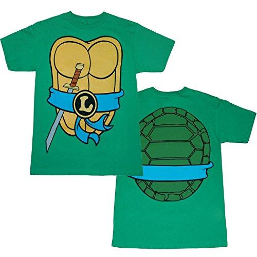 Teenage Mutant Ninja Turtles Leonardo Costume T-Shirt-XX-Large (Adult Ninja Costume Tshirt)