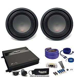 """Two Alpine R-Series 10"""" Subwoofers & MB Quart ZA2-1000.1D 1000 Watt Amplifier & Wiring Kit"""
