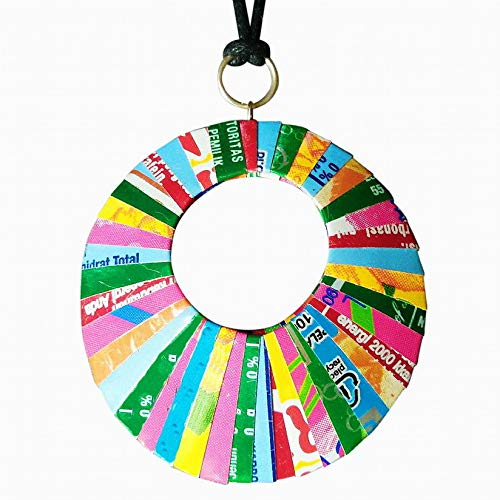 Necklace made from soda can - FREE SHIPPING - reclaimed salvaged handmade coke cola green designs upcycled upcycle up-cycled recycled lovely gorgeous smart person vegetarians inspiration ()