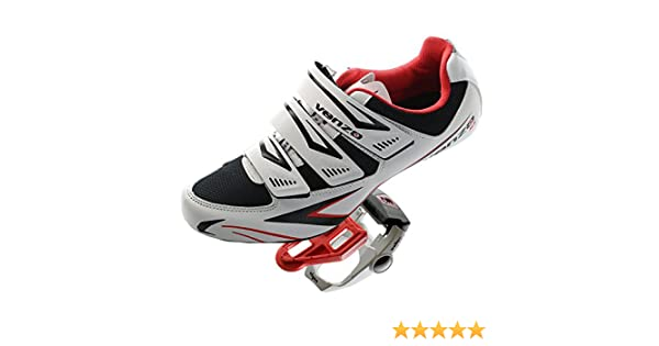 Venzo Road Bike For Shimano SPD SL Look Cycling Bicycle Shoes & Pedals 46: Amazon.es: Deportes y aire libre
