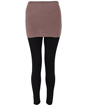 KRISP® Mujeres Legging Falda 2 en 1 Yoga Moca Medium: Amazon.es ...